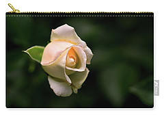White Rosebud Carry-all Pouch