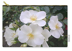 White Roses Bloom Carry-all Pouch
