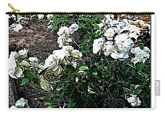 Carry-all Pouch featuring the photograph White Roses by Joan  Minchak