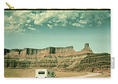 White Rv In Utah Carry-all Pouch by Jill Battaglia