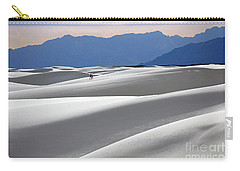 Carry-all Pouch featuring the photograph White Sands Hikers by Martin Konopacki