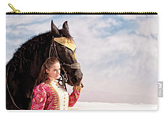 White Sands Horse And Rider #2a Carry-all Pouch