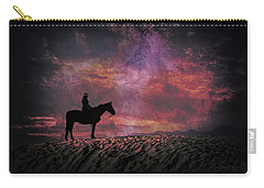 White Sands Horse And Rider #4c Carry-all Pouch
