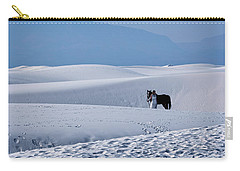 White Sands Horse And Rider #5b Carry-all Pouch