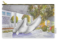 White Sculpture In Santa Monica Blvd., Beverly Hills, California Carry-all Pouch by Carlos G Groppa