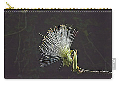 White Shaving Brush Pseudobombax Flower Carry-all Pouch