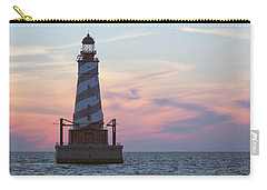 White Shoal Lighthouse At Sunset Carry-all Pouch