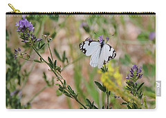 White-skipper On Lupine Carry-all Pouch