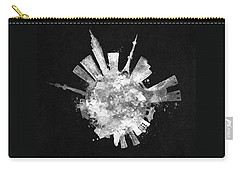 White Skyround / Skyline Art Of Tokyo, Japan Carry-all Pouch