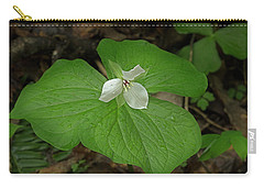 Carry-all Pouch featuring the photograph White Spring Trillium by Mike Eingle