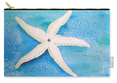 White Starfish Carry-all Pouch by Patricia Piffath