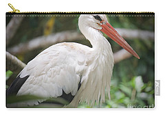 Carry-all Pouch featuring the photograph White Stork Portrait by Judy Kay