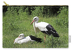 White Storks Carry-all Pouch by Teresa Zieba