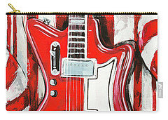 White Stripes Guitar Carry-all Pouch