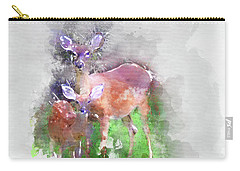 White Tail Deer In Watercolor Carry-all Pouch