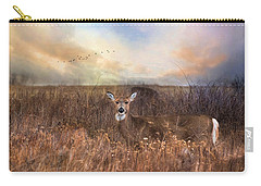 Carry-all Pouch featuring the photograph White Tail by Robin-Lee Vieira