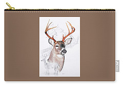 White-tailed Deer Carry-all Pouch by Barbara Keith