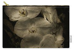 Carry-all Pouch featuring the photograph White Textured Flowers by Ryan Photography