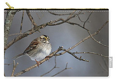 Carry-all Pouch featuring the photograph White-throated Sparrow by Living Color Photography Lorraine Lynch