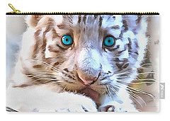 White Tiger Cub Carry-all Pouch
