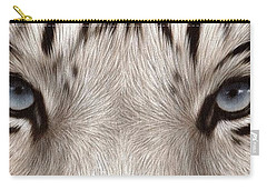 White Tiger Eyes Carry-all Pouch