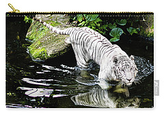 White Tiger Carry-all Pouch by M G Whittingham