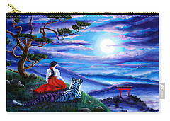 White Tiger Meditation Carry-all Pouch