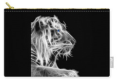 Carry-all Pouch featuring the photograph White Tiger by Shane Bechler
