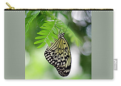 White Tree Nymph Butterfly 2 Carry-all Pouch by Marie Hicks