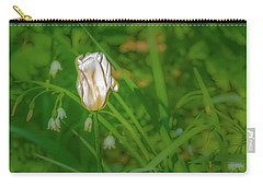 Carry-all Pouch featuring the photograph White Tulip June 2016.  by Leif Sohlman