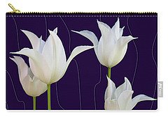 White Tulips For A New Age Carry-all Pouch