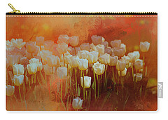 Carry-all Pouch featuring the digital art White Tulips by Richard Ricci