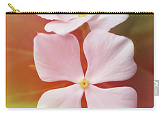 White Vinca With Vivid Highligts  Carry-all Pouch