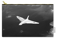 Carry-all Pouch featuring the digital art White Vulcan B1 At Altitude Black And White Version by Gary Eason