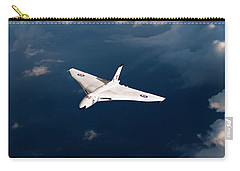 Carry-all Pouch featuring the digital art White Vulcan B1 At Altitude by Gary Eason