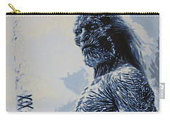 Carry-all Pouch featuring the painting White Walker by Luis Ludzska