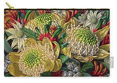 White Waratahs Flannel Flowers And Kangaroo Paws Carry-all Pouch