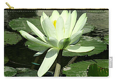 Carry-all Pouch featuring the photograph White Water Lily 1 by Randall Weidner