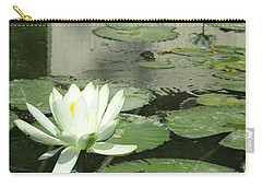 Carry-all Pouch featuring the photograph White Water Lily 3 by Randall Weidner