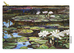 White Waterlilies In Tower Grove Park Carry-all Pouch
