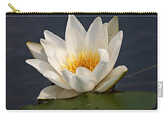 Carry-all Pouch featuring the photograph White Waterlily 1 by Jouko Lehto