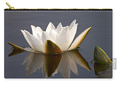 Carry-all Pouch featuring the photograph White Waterlily 2 by Jouko Lehto