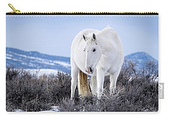 White Wild Horse Mystic Of Sand Wash Basin Carry-all Pouch