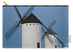 Carry-all Pouch featuring the photograph White Windmills by Heiko Koehrer-Wagner