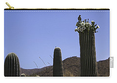 Carry-all Pouch featuring the photograph White Wing Dove by Lynn Geoffroy