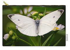White Wings Of Wonder Carry-all Pouch by Kerri Farley