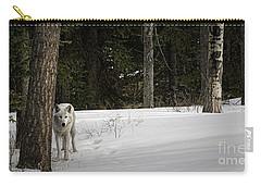 White Wolf Carry-all Pouch by Brad Allen Fine Art