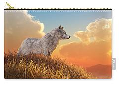 White Wolf Carry-all Pouch by Daniel Eskridge