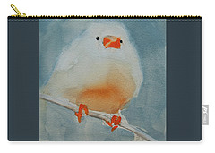 White Zebra Finch Carry-all Pouch
