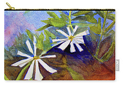 White Zinnias Carry-all Pouch